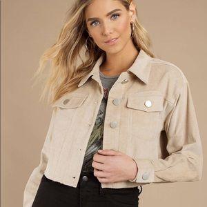 Tobi tan, cropped, corduroy jacket